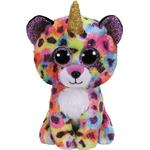Soft Toys - Leopard TY Beanie Boos Giselle Leopard with Horn 15cm