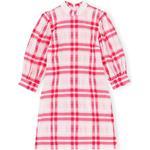 Dresses Women's Clothing Ganni Seersucker Check Mini Dress - Cherry Blossom