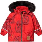 Reflectors - Parkas Children's Clothing Mini Rodini K2 Tiger Parka - Red (1971011642)