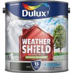 Dulux Weathershield Smooth Masonry Wall Paint Black 2.5L