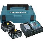 Power Tool Chargers - Black Makita 2xBL1850B + DC18RC