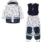 Rain set - Long sleeve Children's Clothing Didriksons Kid's Boardman Printed Set - Snow White Terazzo (503018-818)