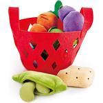Food Toys - Fabric Hape Toddler Vegetable Basket