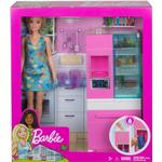 Mattel Barbie Doll Blonde & Furniture Set