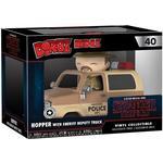 Police - Figurines Funko Dorbz Ridez Stranger Things Jim Hopper with Sheriff Deputy Truck