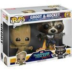 Guardians of the Galaxy - Figurines Funko Pop! Marvel Guardians of the Galaxy 2 Young Groot & Rocket Raccoon