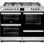 Dual Fuel Cooker Belling Cookcentre 110DF Stainless Steel