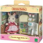 Dollhouse dolls - Bunny Sylvanian Families Chocolate Rabbit Mother Set