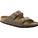 Sandals Birkenstock Arizona Oiled Leather - Tobacco Brown