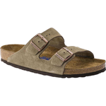 Sandals Birkenstock Arizona Soft Footbed Suede Leather - Taupe