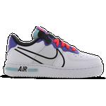 Nike Air Force 1 React GS - White/Astronomy Blue/Laser Crimson/Black
