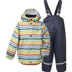 Unlined - Rain set Children's Clothing Didriksons Kid's Slaskeman Printed Set - Multicolour Simple Stripe (503090-811)