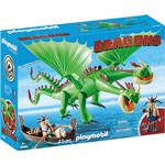 Play Set - Drakar Playmobil Ruffnut & Tuffnut with Barf & Belch 9458