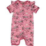 Organic Fabric - Jumpsuits Children's Clothing Småfolk Bodysuit with Unicorn - Sea Pink (02-4314)