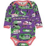Multicolour - Bodysuits Children's Clothing Småfolk Body with Landscape - Purple Heart (01-3007)