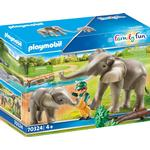 Play Set - Elephant Playmobil Family Fun Elephant Habitat 70324