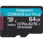 Kingston Canvas Go! Plus microSDXC Class 10 UHS-I U3 V30 A2 170/70MB/s 64GB