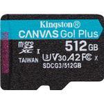 Kingston Canvas Go! Plus microSDXC Class 10 UHS-I U3 V30 A2 170/90MB/s 512GB