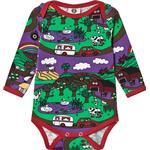 Multicolour - Bodysuits Children's Clothing Småfolk Body with Landscape - Purple Heart (03-3011)