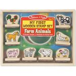 Creativity Sets - Wood Melissa & Doug My First Wooden Stamp Farm Animals Set