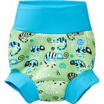 12-18M - Swim Diapers Children's Clothing Splash About Happy Nappy - Green Gecko