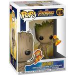 Guardians of the Galaxy - Figurines Funko Pop Marvel Avengers Infinity War Groot with Stormbreaker