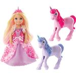 Animals - Fashion Doll Accessories Mattel Barbie Dreamtopia Gift Set Chelsea Princess Doll with Baby Unicorns