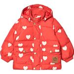 Red - Winter Jacket Children's Clothing Mini Rodini Hearts Puffer Jacket - Red (2071011242)