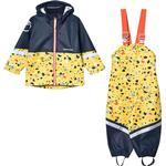 Yellow - Rain set Children's Clothing Didriksons Waterman Printed Kid's Set - Pollen Yellow Terazzo (503019-816)