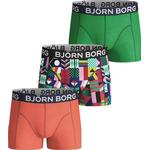 Boxer Shorts - Cotton Children's Clothing Björn Borg Geo Flag Boy Shorts 3-pack - Mint Leaf (2011-1010-80251)