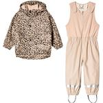 Windproof - Outerwear Children's Clothing Kuling Ottawa Recycled Rain Set - Leopard