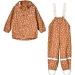 Rain set - 134/140 Children's Clothing Kuling San Marino Recycled Rain Set - Brown Dots
