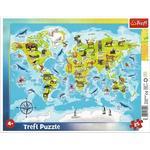Trefl Animal World Map