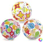Inflatable - Beach Ball Intex Lively Print Water Ball 51cm