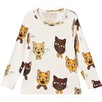 Baby - T-shirts Children's Clothing Mini Rodini Cat Choir Long Sleeve T-shirt - Off-White (2072013811)