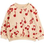 Baby - Sweatshirts Children's Clothing Mini Rodini Notes Sweatshirt - Beige (2072015913)
