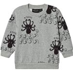 Sweatshirts - Organic cotton Children's Clothing Mini Rodini Octopus Sweatshirt - Light Gray (2062011594)