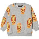 Sweatshirts - 56/62 Children's Clothing Mini Rodini Flower Sweatshirt - Light Gray (2072015594)