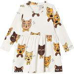 Everyday Dresses - 6-9M Children's Clothing Mini Rodini Cat Choir Dress - Offwhite (2075012511)
