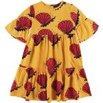 Ruffled Dresses - 24-36M Children's Clothing Mini Rodini Shell Long Dress - Yellow (2065010023)