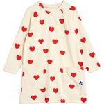 Everyday Dresses - 6-9M Children's Clothing Mini Rodini Basic Hearts Dress - Offwhite (2075012811)
