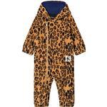1-3M - Fleece Overall Children's Clothing Mini Rodini Leopard Fleece Onesie - Beige (2074010213)