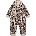 0-1M - Fleece Overall Children's Clothing Kuling Livigno Windfleece Overall - Leopard