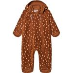 Polyester - Fleece Overall Children's Clothing Kuling Livigno Windfleece Overall - Brown Dots