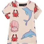 T-shirts - 6-9M Children's Clothing Mini Rodini Dolphin T-Shirt - Pink (2062011900)