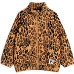 Taped Seams - Fleece Jacket Children's Clothing Mini Rodini Leopard Fleece Jacket - Beige (2071010213)
