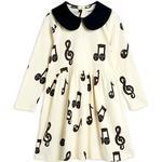 Baby - Dresses Children's Clothing Mini Rodini Note Dress - Offwhite (2075012311)