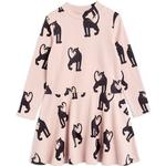 Everyday Dresses - Print Children's Clothing Mini Rodini Panther Rib Dress - Pink (2075012928)