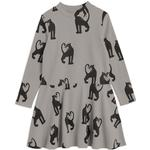 Everyday Dresses - Print Children's Clothing Mini Rodini Panther Rib Dress - Grey (2075012997)