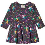 Elastan Children's Clothing Frugi Sofia Skater Dress - Fairy Friends (DRA018FYR)